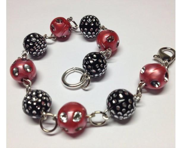 Raspberry Sparkle Bracelet