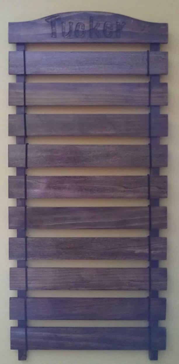 Martial Arts Belt Wall Display Unit