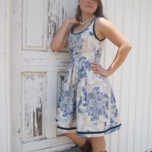 toile tea dress