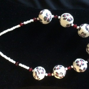 Chic Polymer Clay Beaded Necklace