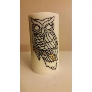"3x6 ""Owl With Key"" Pillar Candle"
