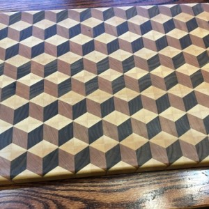 Tumbling blocks cutting board