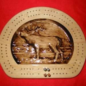Elk Flat Bottom Cribbage Board