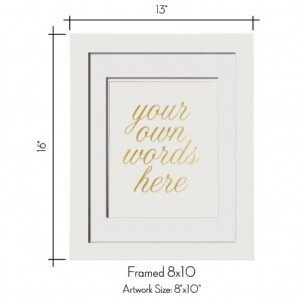 Add A Matted Frame To Your 8x10 Print