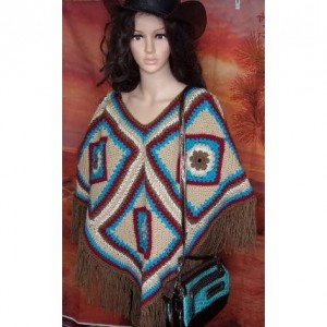 Southwestern style poncho