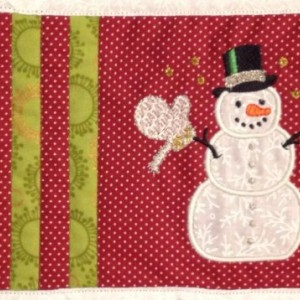 Snowman Mug Rug - Customized Item