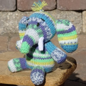 Elephant, Stuffed Animal, Baby Boy Toy, Hand Knitted Toy, Blue Toy, Knitted Elephant, Baby Shower