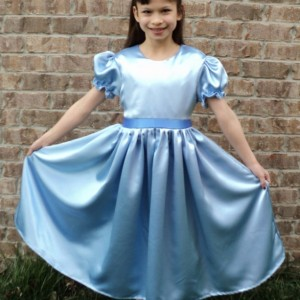 NEW Elegant Peter Pan Wendy Satin Costume 2PC Dress Set Child Size 12m-14yrs