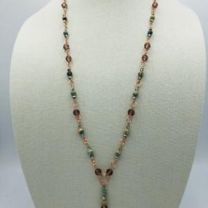 """34"""" Linked Boho Beaded Necklace"""