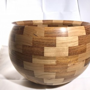 Turned Wood Bowl - Cherry and Bubinga