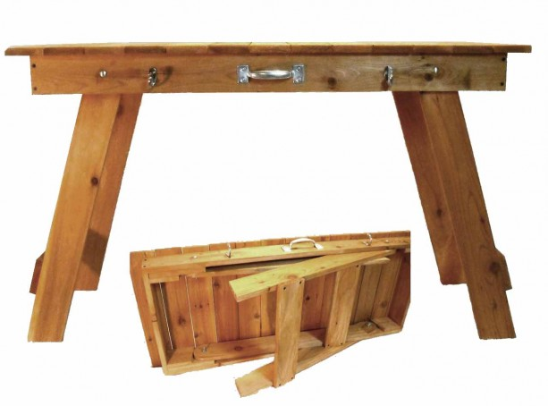 Cedar Portable Folding Grill/Craft Table