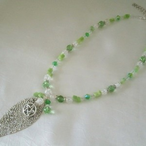 Green Witch Pentacle Necklace