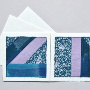 Improvised patchwork greeting cards -- set of 2