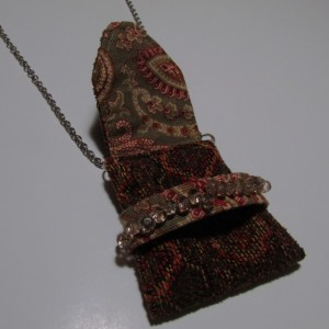 Bejeweled Pouch  Pendant Necklace - Boho Style