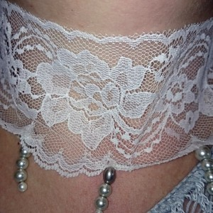 Pearl Choker, Lace Choker, Lace Necklace with Pearls, Wedding Jewelry
