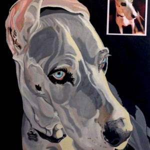 "Hoss - Custom Dog Portrait - 14"" x 18"""