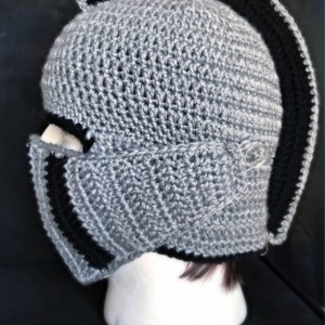Knight Hat / knight Helmet / grey and black