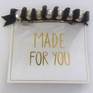 Pearl Ribbon Barrette