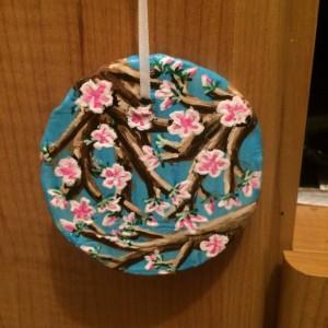 Handmade Cherry Blossom Ornament