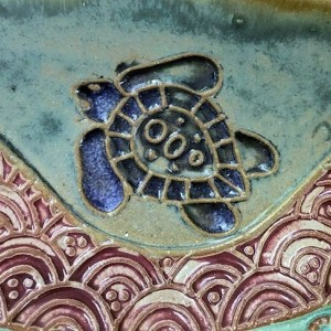 Sea Turtle Sauce Cup Hand Made Stoneware Pottery