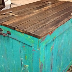Rustic Handmade Reclaimed Wooden Pallet Chest TV Stand
