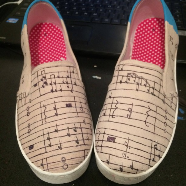 Sheet Music Shoes