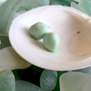Pale green sea milk glass stud earrings, milk glass earrings, green earrings, sea glass earrings, green milk glass, green sea glass, studs