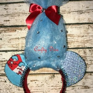 Dr Seuss Thing One & Thing Two Minnie/Mickey Mouse Headband