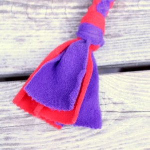 Interactive Tug Toy For Medium to Large Dogs, Fetch Dog Toy, Fleece Pull Toy For Your Dog, Red Hat Society Colors Tug Toy For Your Dog, Hand Crafted Tug Toy