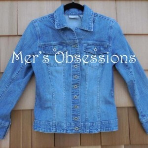 Women's Denim Jacket with Embroidered Dog