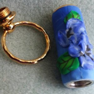 Hidden compartment key chain