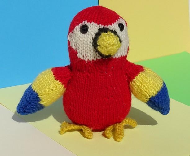 Hand Knit Parrot Plush Bird Aftcra