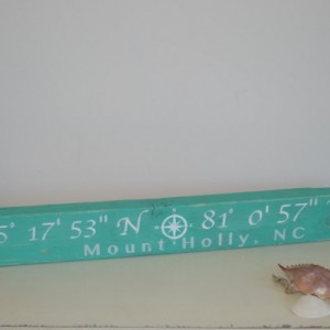 Latitude longitude sign