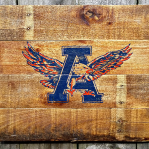 Rustic Handmade Auburn University War Eagle Recalimed Wooden Pallet Sign