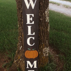 REVERSIBLE SEASONAL Welcome Sign -Fall & Winter
