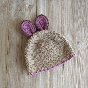 Crochet Ears beanie. Crochet photo props. Crochet baby. Babygirl
