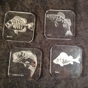 Custom Engraved Coasters Plastic Clear Acrylic Set of (6) Personalized