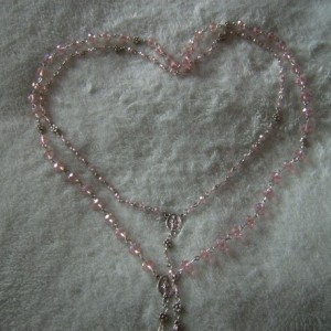 Pink Rosary Set for American Girl Doll and Little Girl