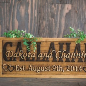 Customizable Sign, Anniversary Sign, Wife Gift, Woodland Sign, Country Home Décor, Wood Anniversary, Art Deco Sign, Barn Wedding Décor
