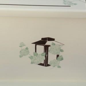 Lanterns and Hydrangea Wedding Keepsake Chest Anniversary Box personalized wedding gift