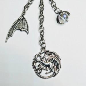 Game of Thrones Inspired keychains House Stark House Targaryen