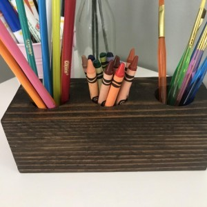 Rustic Crayon Holder / Kids Crayon Holder / Pencil Holder / Wood Crayon Holder / Craft Holder / Children's Crayon Holder