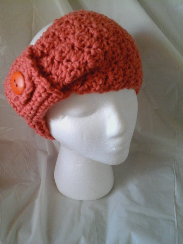 Exclusively Yours-Crocheted Turban/Pony Tail/Toque Hat Band-Great for Messy hair days,fashionable outdoor activity head gear for all women!
