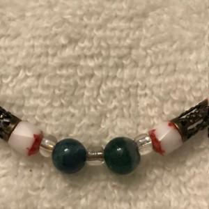 "Sweet Memories handmade beaded bracelet 8.5"" long"
