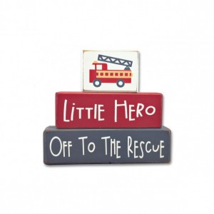 Baby boy nursery decor - Fire Truck - baby nursery - wood sign