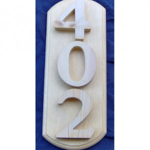 House Number Signs 4 inch Numbers on backboard for the house or mailbox. Free Shipping!