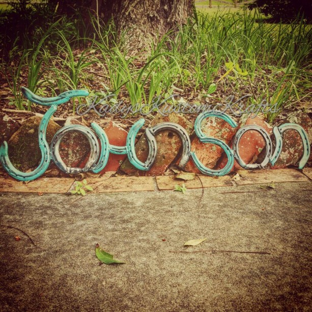 Rustic horseshoe Name signs- Country Rustic Name signs - Handmade Home decor - Personalized Name signs - personalized housewarming gift