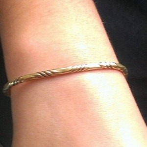 Women's Viking Brass Bracelet