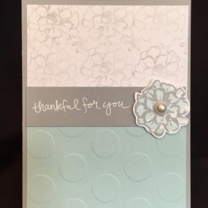 Hand Stamped Floral Thank You Card, You Are My Person, Best Friend Card, Thanks Friend Card, Thanks Card Friend, Friendship Card Her