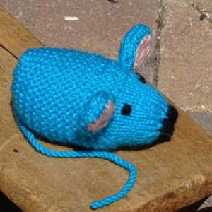 Mouse, Knitted Mouse, Blue Baby Toy, Stuffed Animal, Small Toy